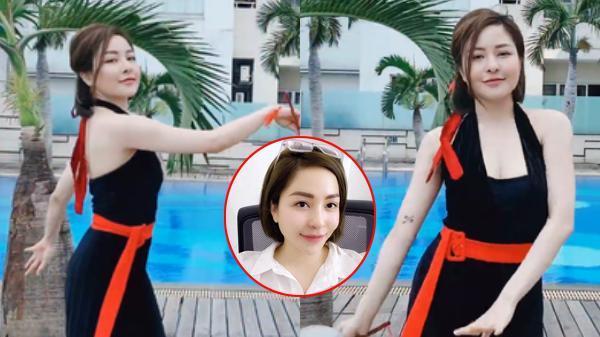 Đăng clip múa quạt ở hồ bơi, hot girl Trâm Anh gây choáng với gương mặt biến dạng như phẫu thuật hỏng