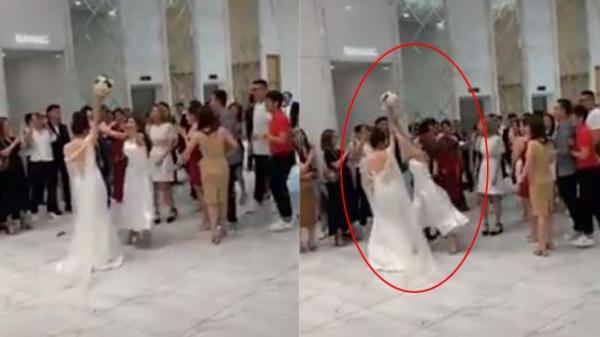 Cô dâu chưa kịp tung hoa cưới, gái xinh tham dự đã nhảy vào gi.à.nh gi.ựt như 'ă.n c.ư.ớ.p'