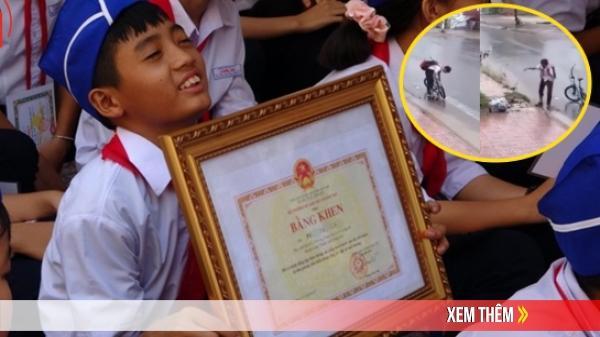 Cậu bé khơi thông cống giữa trời mưa được Bộ GD&ĐT tặng bằng khen