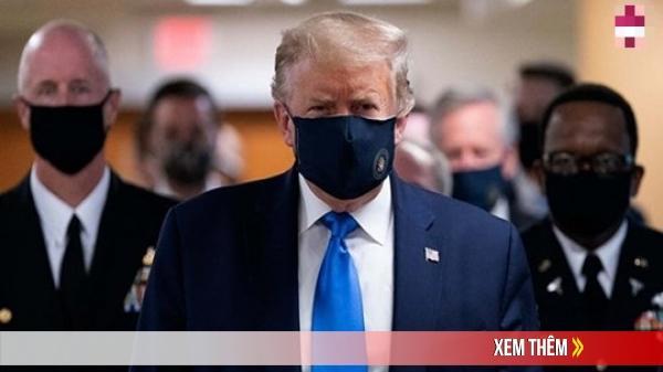 Mỹ hơn 60.000 ca COVID-19 mỗi ngày, ông Trump lần đầu đeo khẩu trang