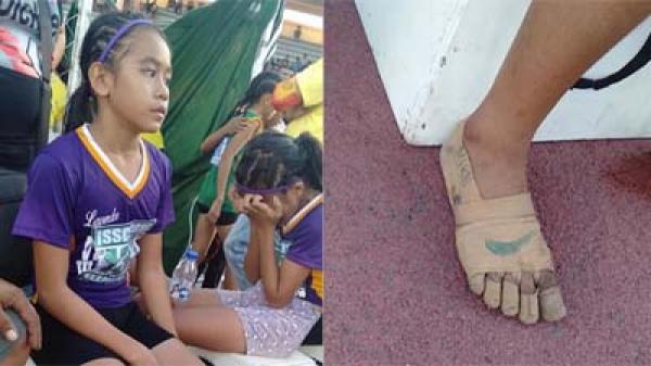 Cô bé 11 tuổi giành 3 huy chương vàng điền kinh nhờ đôi giày tự chế từ băng dính