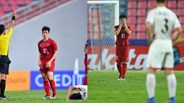 Nhận thẻ đỏ trong trận thua U23 Triều Tiên, Trần Đình Trọng bị treo giò tại Vòng loại World Cup 2022