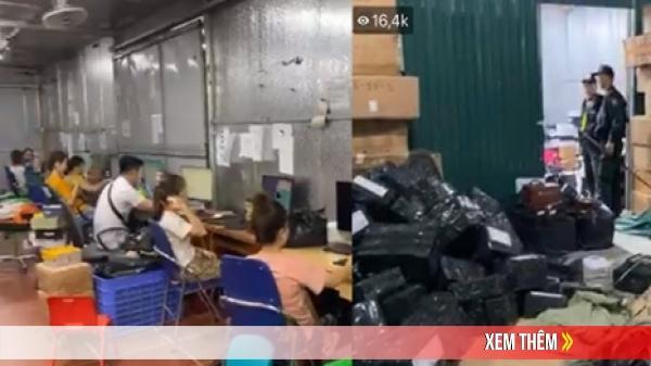 Cận cảnh kho hàng lậu rộng hơn 10.000m2 chuyên livestream bán hàng trên Facebook