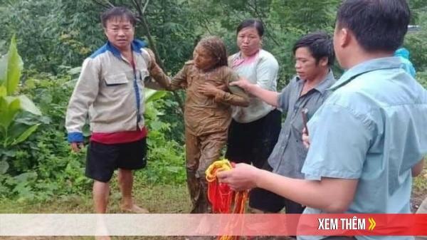 Kịp thời cứu người phụ nữ đi đường bị đất sạt lở vùi lấp