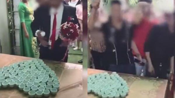 Xôn xao đám cưới thử thách nhà trai uống 100 chén rư.ợu nhưng hành động của các chị gái mới gây chú ý