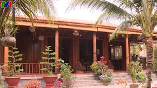Căn nhà 6 tỷ làm từ 4.000 cây dừa lão ở Vĩnh Long