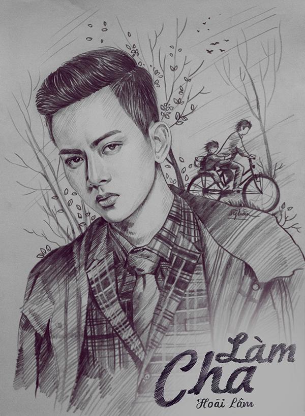 Thiện Sỹ vẽ minh họa cho MV Làm cha của ca sĩ Hoài Lâm