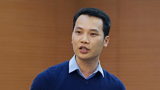 Tiến sĩ Nguyễn Xuân Thủy, Học viện Cảnh sát nhân dân, nêu đề xuất tại hội nghị Ảnh Lê Hiệp