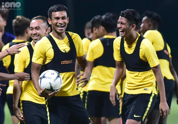 Tâm lý của cầu thủ Malaysia khá thoải mái trước trận đấu.